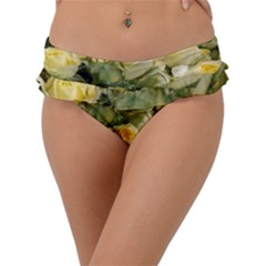 Yellow Roses Frill Bikini Bottom by Sparkle