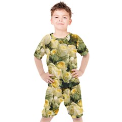 Yellow Roses Kids  Tee And Shorts Set by Sparkle