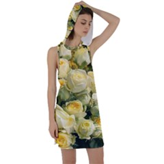 Yellow Roses Racer Back Hoodie Dress