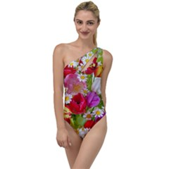 Beautiful Floral To One Side Swimsuit by Sparkle