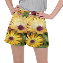 Yellow Flowers Ripstop Shorts