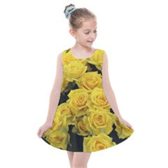 Yellow Roses Kids  Summer Dress by Sparkle