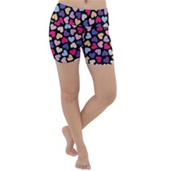 Colorful Love Lightweight Velour Yoga Shorts by Sparkle