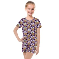 Eyes Cups Kids  Mesh Tee And Shorts Set
