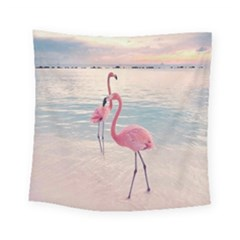 Flamingos Beach Square Tapestry (small)