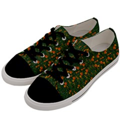 Sakura Tulips Giving Fruit In The Festive Temple Forest Men s Low Top Canvas Sneakers by pepitasart