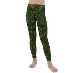 Sakura Tulips Giving Fruit In The Festive Temple Forest Kids  Lightweight Velour Leggings