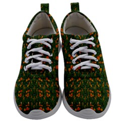 Sakura Tulips Giving Fruit In The Festive Temple Forest Mens Athletic Shoes by pepitasart