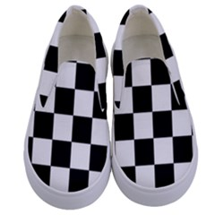 Chess Board Background Design Kids  Canvas Slip Ons