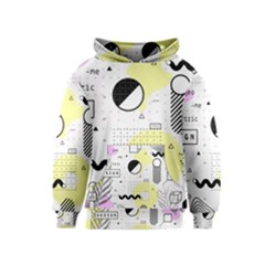 Graphic Design Geometric Background Kids  Pullover Hoodie