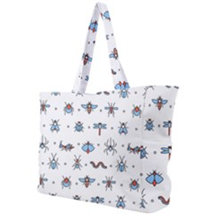 Insects Icons Square Seamless Pattern Simple Shoulder Bag