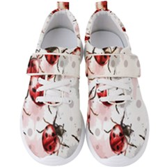 Ladybugs Pattern Texture Watercolor Men s Velcro Strap Shoes