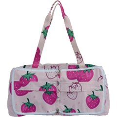 Seamless Strawberry Fruit Pattern Background Multi Function Bag by Bejoart