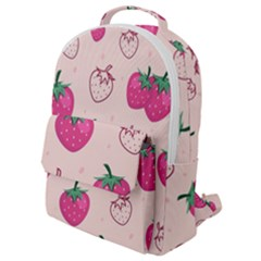 Seamless Strawberry Fruit Pattern Background Flap Pocket Backpack (small) by Bejoart