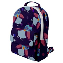 Owl Pattern Background Flap Pocket Backpack (small)