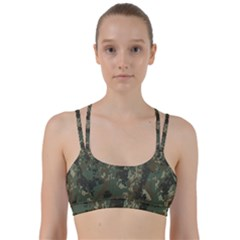 Camouflage Splatters Background Line Them Up Sports Bra