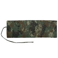 Camouflage Splatters Background Roll Up Canvas Pencil Holder (m)