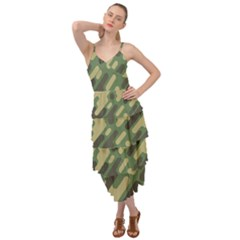 Camouflage Pattern Background Layered Bottom Dress