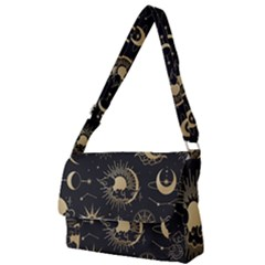 Asian Set With Clouds Moon Sun Stars Vector Collection Oriental Chinese Japanese Korean Style Full Print Messenger Bag (s) by Bejoart