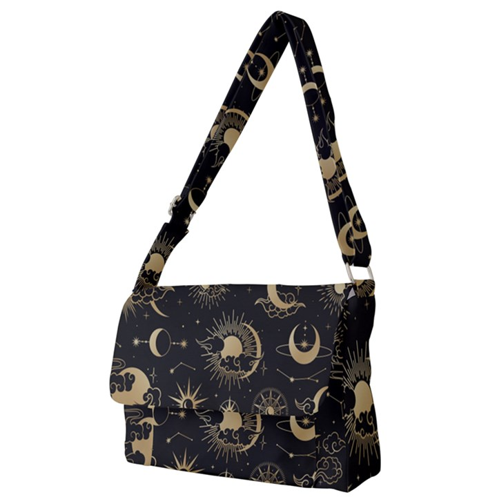 Asian set with clouds moon sun stars vector collection oriental chinese japanese korean style Full Print Messenger Bag (L)