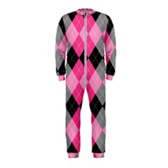 Seamless Argyle Pattern Onepiece Jumpsuit (kids) by Bejoart