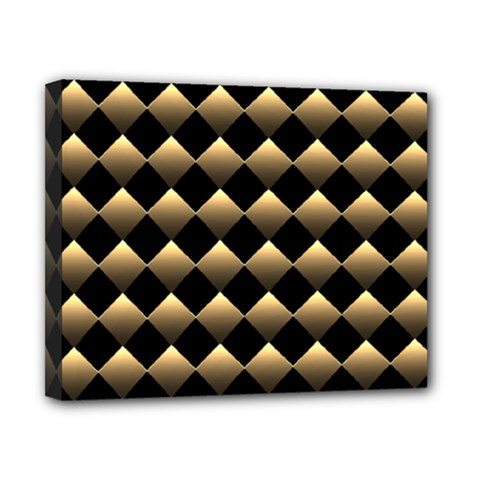 Golden Chess Board Background Canvas 10  X 8  (stretched)