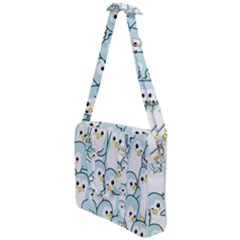 Penguins Pattern Cross Body Office Bag by Bejoart