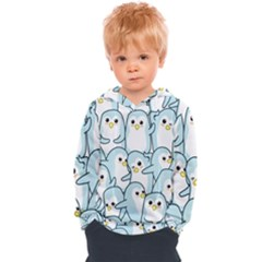 Penguins Pattern Kids  Overhead Hoodie by Bejoart
