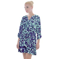 Blue Shells Open Neck Shift Dress by treegold