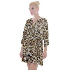Cockle Shells Open Neck Shift Dress by treegold
