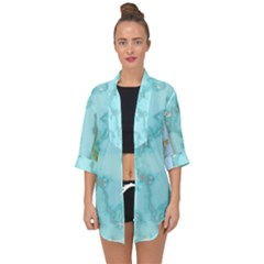 Background Marble Set Open Front Chiffon Kimono