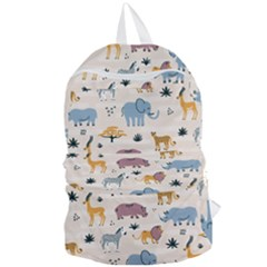 Wild Animals Seamless Pattern Foldable Lightweight Backpack by Bejoart