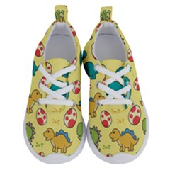 Seamless Pattern With Cute Dinosaurs Character Running Shoes by Bejoart