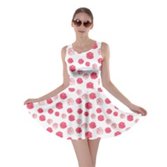 Watercolor Hand Drawn Roses Pattern1 Skater Dress