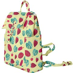 Watermelons, Fruits And Ice Cream, Pastel Colors, At Yellow Buckle Everyday Backpack by Casemiro