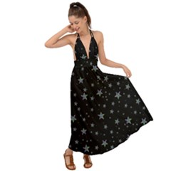 Memphis Stars Backless Maxi Beach Dress by treegold
