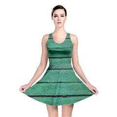 Green Weathered Wood Reversible Skater Dress by treegold