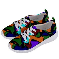 Trippy Paint Splash, Asymmetric Dotted Camo In Saturated Colors Women s Lightweight Sports Shoes by Casemiro