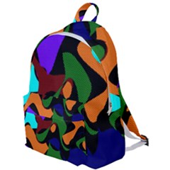 Trippy Paint Splash, Asymmetric Dotted Camo In Saturated Colors The Plain Backpack by Casemiro