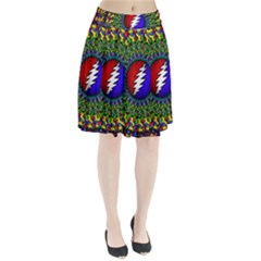 Grateful Dead Pleated Skirt by Sapixe