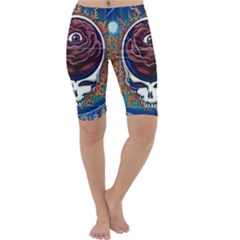 Grateful Dead Ahead Of Their Time Cropped Leggings  by Sapixe