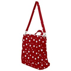 Mushroom Pattern, Red And White Dots, Circles Theme Crossbody Backpack by Casemiro