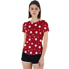 Mushroom Pattern, Red And White Dots, Circles Theme Back Cut Out Sport Tee