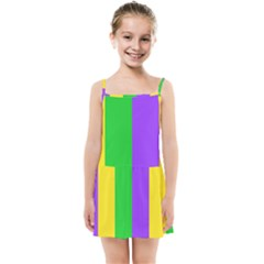 New Orleans Carnival Colors Mardi Gras Kids  Summer Sun Dress by yoursparklingshop