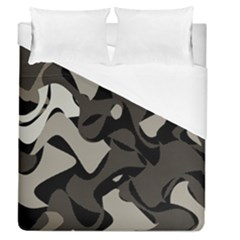 Trippy Sepia Paint Splash, Brown, Army Style Camo, Dotted Abstract Pattern Duvet Cover (queen Size) by Casemiro