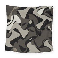 Trippy Sepia Paint Splash, Brown, Army Style Camo, Dotted Abstract Pattern Square Tapestry (large)