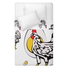 Roseanne Chicken, Retro Chickens Duvet Cover Double Side (single Size) by EvgeniaEsenina