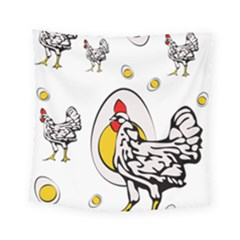 Roseanne Chicken, Retro Chickens Square Tapestry (small) by EvgeniaEsenina