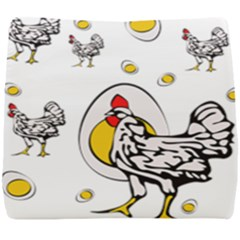 Roseanne Chicken, Retro Chickens Seat Cushion by EvgeniaEsenina