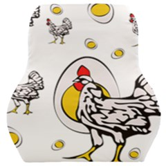 Roseanne Chicken Car Seat Back Cushion  by EvgeniaEsenina